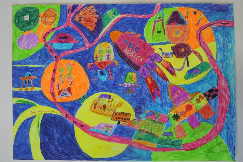 Гальцев Глеб, 8 лет, Межпланетная станция, пед. Фанатов Д.А.